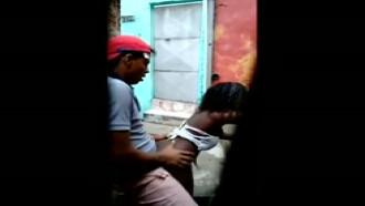 Video de flagra de sexo na rua