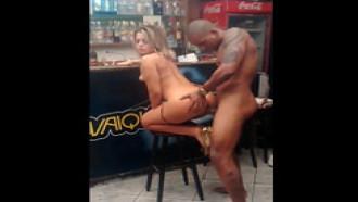 Pamela Pantera Gravando Filme Porno No Bar RJ