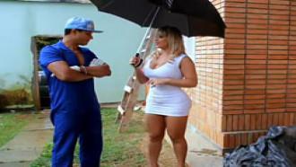 Angel Lima Loira Brasileira Fodendo Com Pedreiro