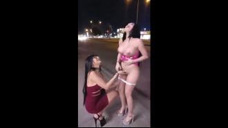 Lesbicas em público fazendo putaria